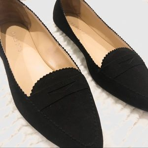 TALBOTS Francesa Driving Suede Pointed Toe Flats